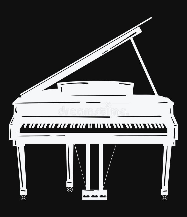 Illustrazione di vettore di un piano strumento musicale for Disegno di piano domestico