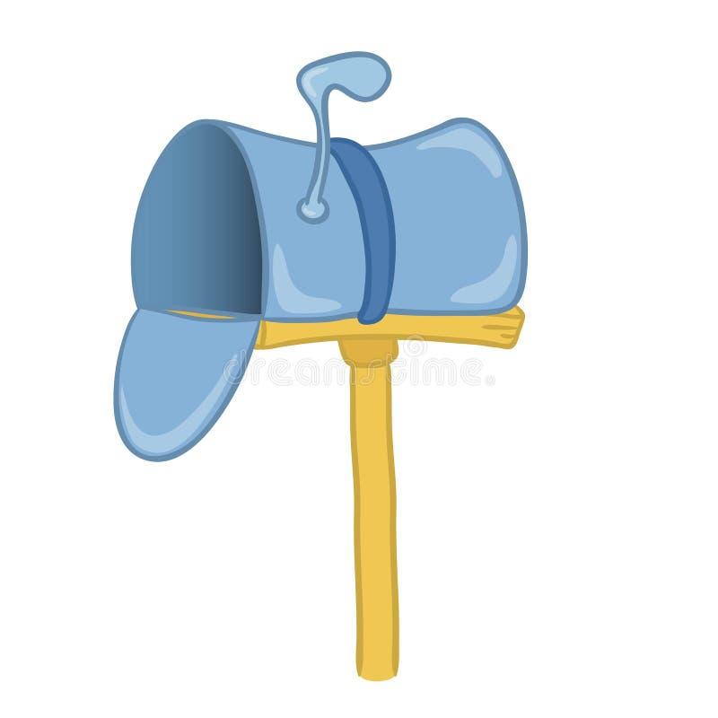 Illustrazione di vettore di un postbox illustrazione di stock