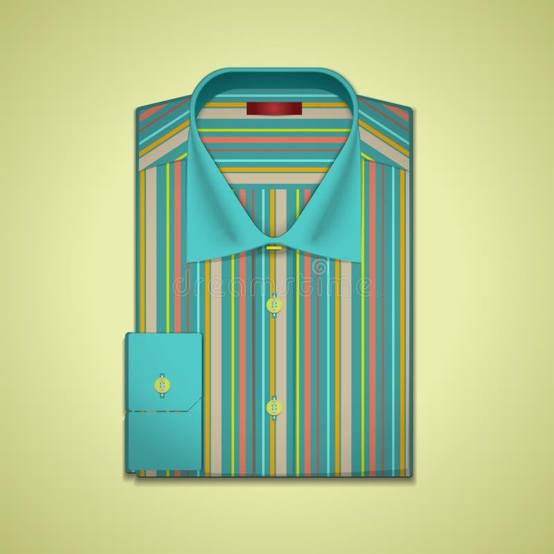 Illustrazione di vettore di una camicia a strisce royalty illustrazione gratis