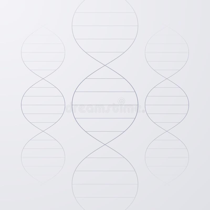Download Illustrazione Di Vettore Di Una Molecola Del DNA Illustrazione Vettoriale - Illustrazione di grafico, nave: 56889569
