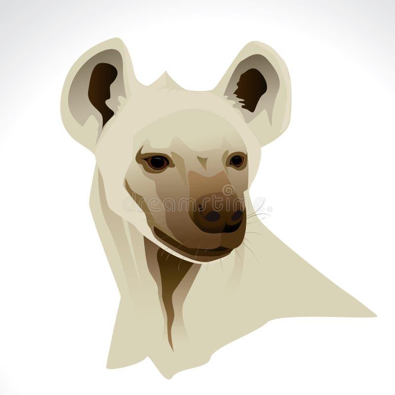 Illustrazione di vettore di una testa dell'iena immagine stock libera da diritti
