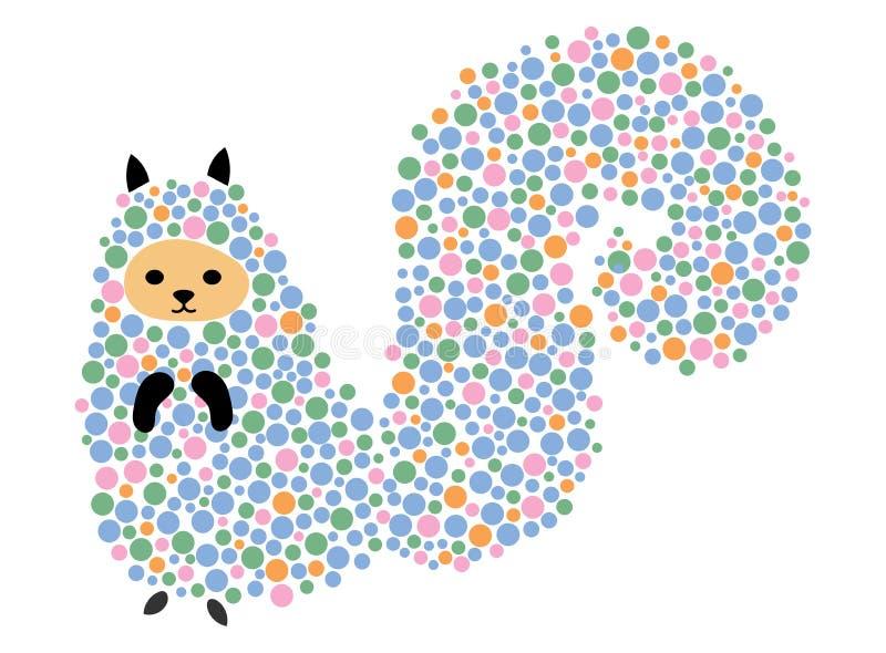 Illustrazione di vettore di uno scoiattolo del fumetto Tamia stilizzata Le figure umane molto piccole trasformano la vita Animale illustrazione vettoriale