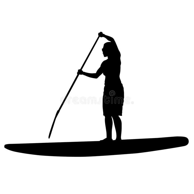 Illustrazione di vettore ENV di Paddleboarding dai crafteroks illustrazione vettoriale
