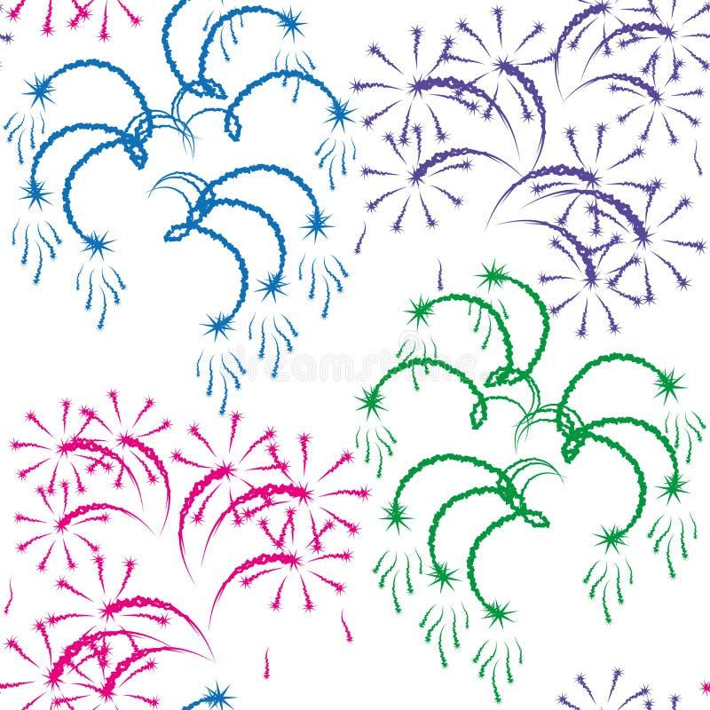 Illustrazione di vettore - fuoco d'artificio. illustrazione vettoriale