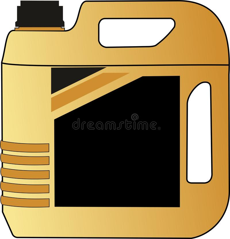 Illustrazione di vettore di gallone del gasolio della bottiglia royalty illustrazione gratis