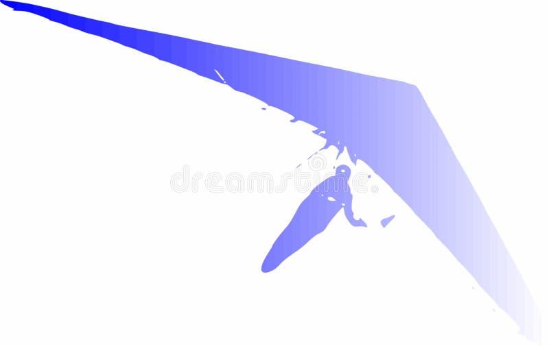 Illustrazione di vettore di Hang Glider nella pendenza blu immagine stock