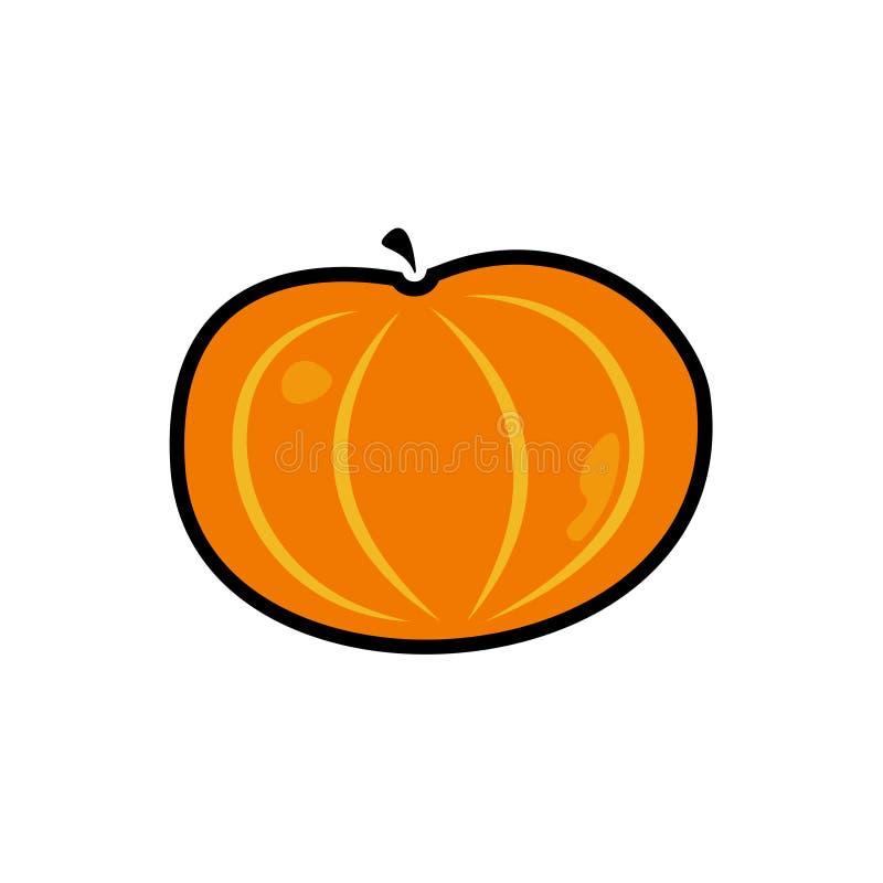 Illustrazione di vettore Icona della zucca su fondo bianco royalty illustrazione gratis