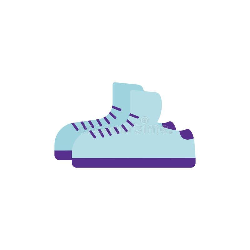 Illustrazione di vettore Icona piana delle scarpe da tennis illustrazione di stock