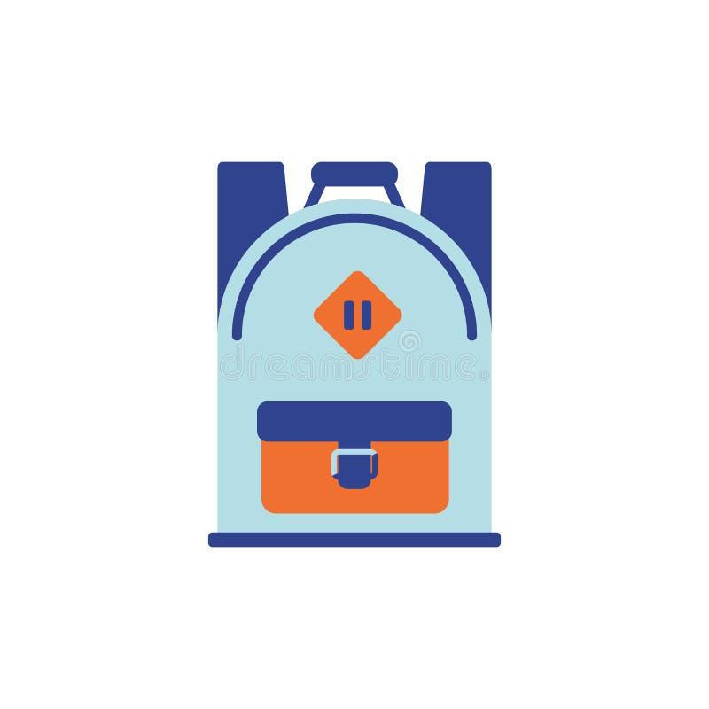Illustrazione di vettore Icona piana dello zaino illustrazione di stock