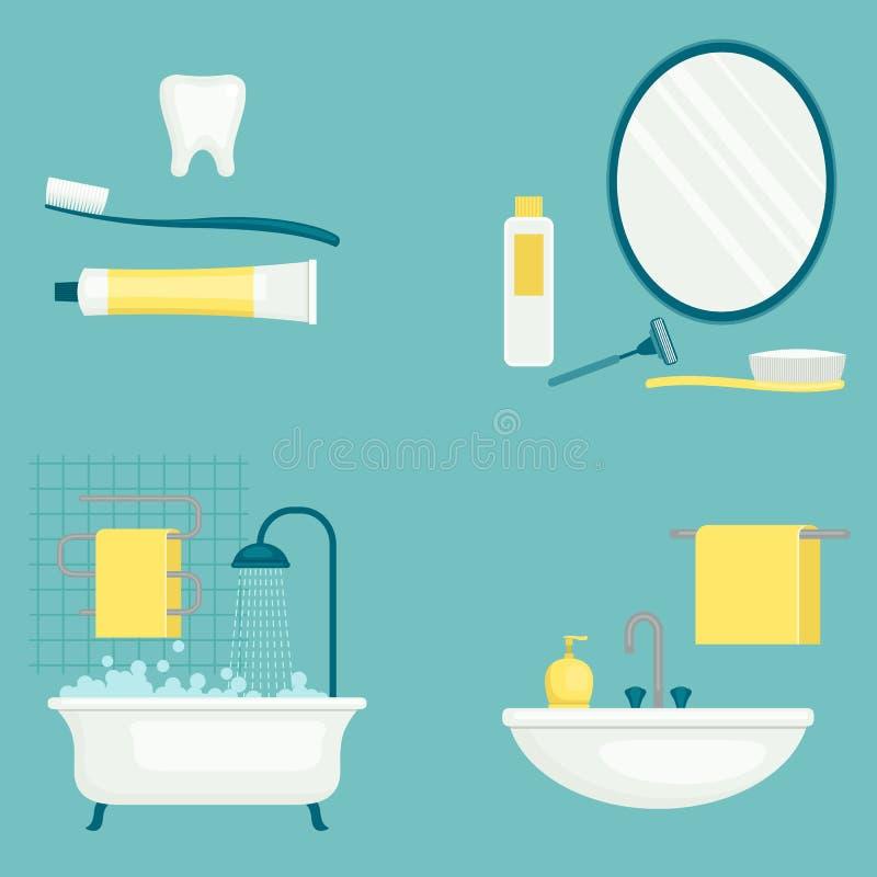 Illustrazione di vettore di igiene personale Ritardi e braccia illustrazione di stock