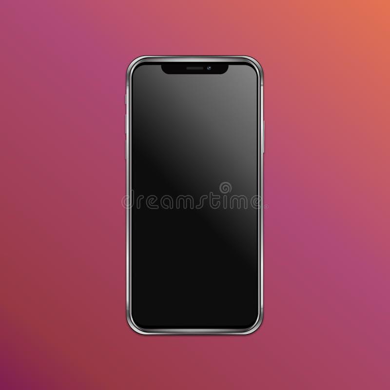 Illustrazione di vettore di Iphone x fotografia stock libera da diritti