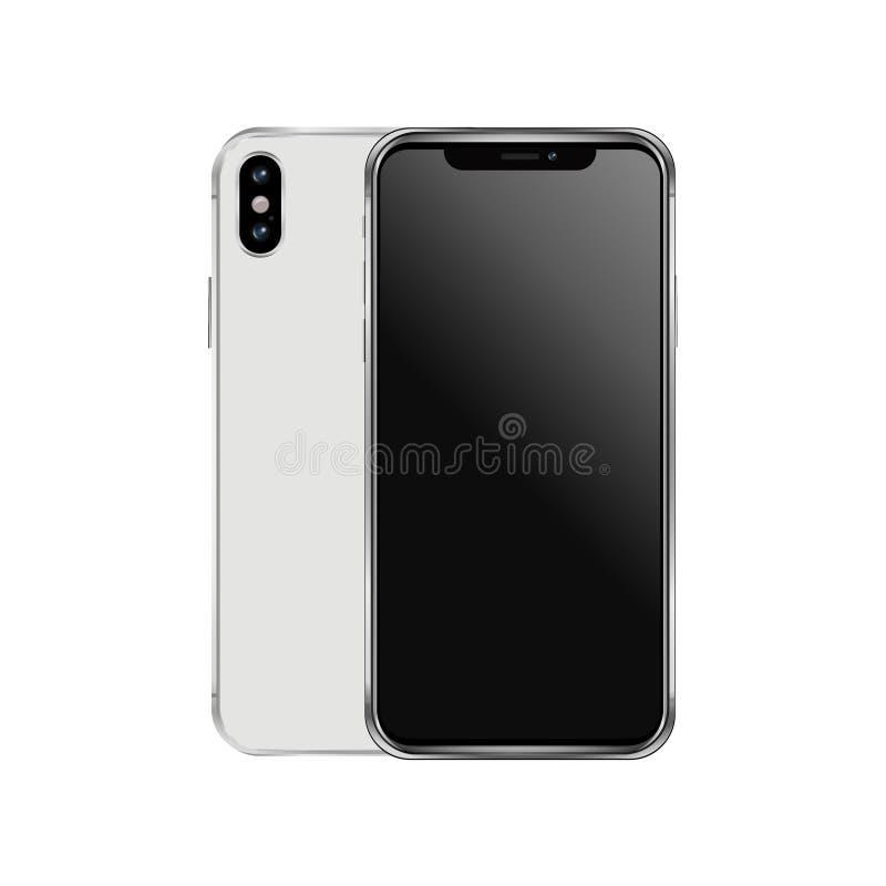 Illustrazione di vettore di Iphone x immagini stock libere da diritti