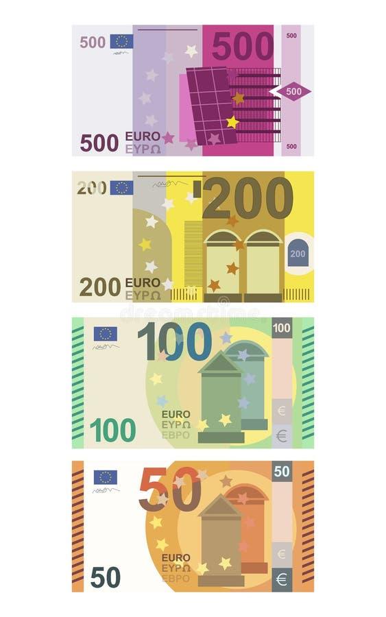 Illustrazione di vettore isolata euro soldi illustrazione vettoriale