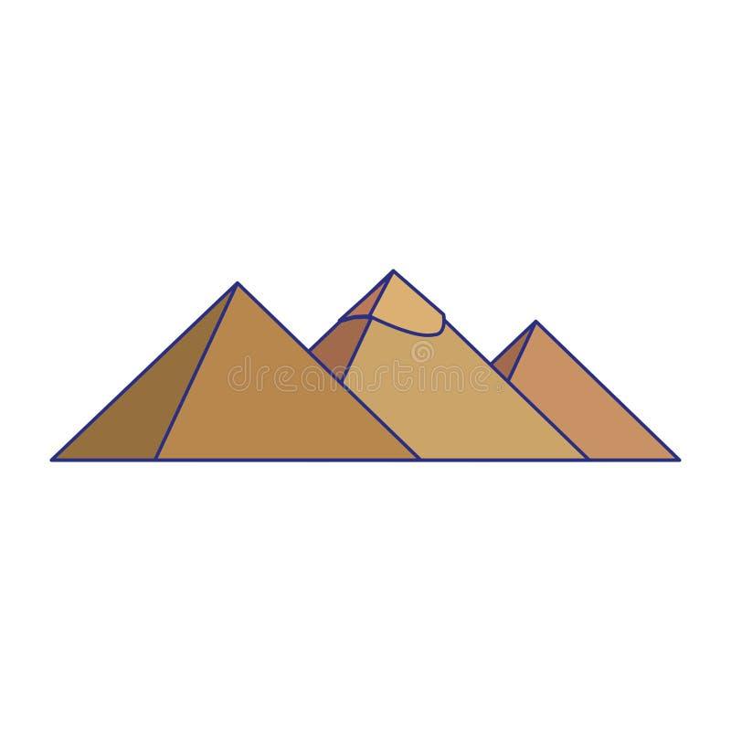 Illustrazione di vettore isolata monumenti delle piramidi dell'Egitto royalty illustrazione gratis