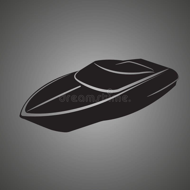 Illustrazione di vettore isolata motoscafo Barca di lusso e costosa illustrazione di stock