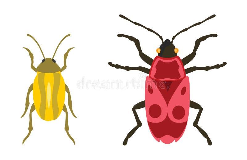 Illustrazione di vettore isolata piano dell'icona dell'insetto royalty illustrazione gratis