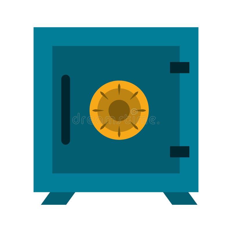Illustrazione di vettore isolata simbolo dei soldi della cassaforte illustrazione vettoriale