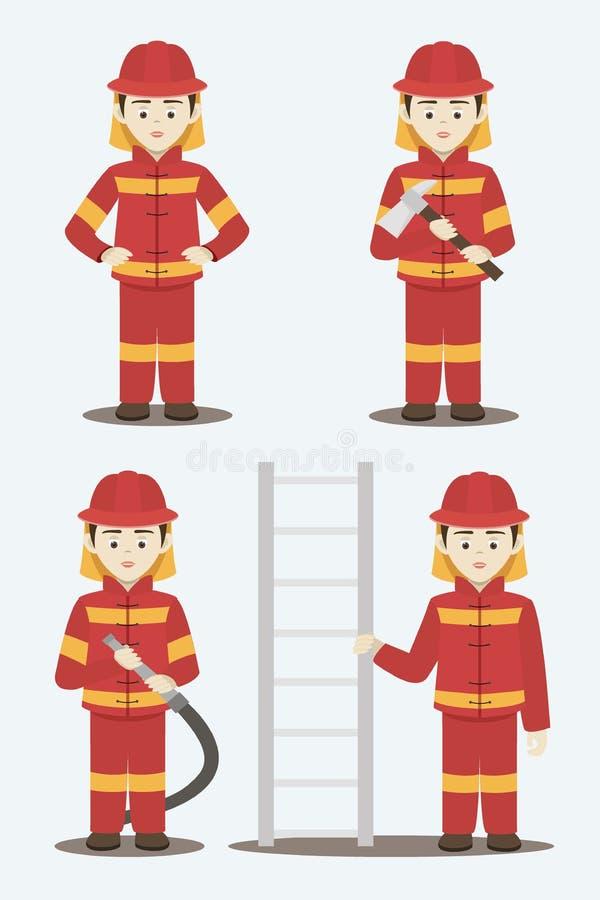 Illustrazione di vettore isolata vigile del fuoco royalty illustrazione gratis