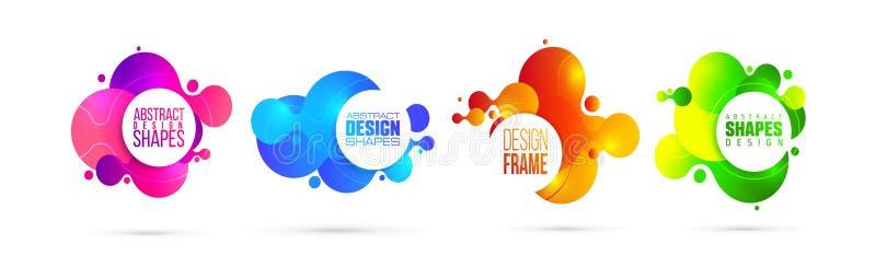 Illustrazione di vettore liquido organico moderno progettazione grafica della struttura per testo fotografia stock