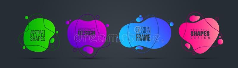 Illustrazione di vettore liquido organico moderno progettazione grafica della struttura per testo fotografia stock libera da diritti
