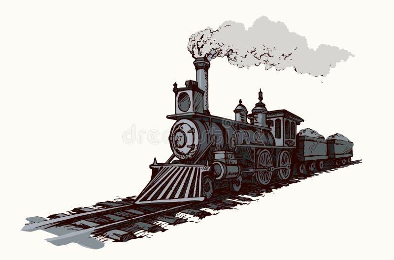 Illustrazione di vettore locomotiva illustrazione di stock