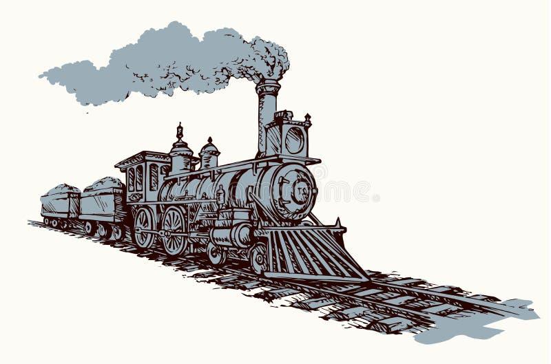 Illustrazione di vettore locomotiva illustrazione vettoriale