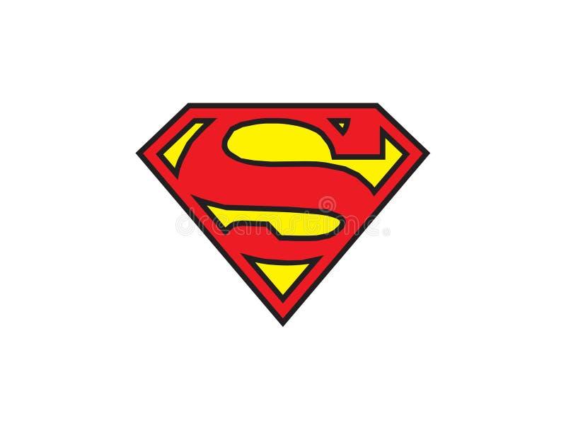 Illustrazione di vettore di logo del superman su fondo bianco illustrazione vettoriale