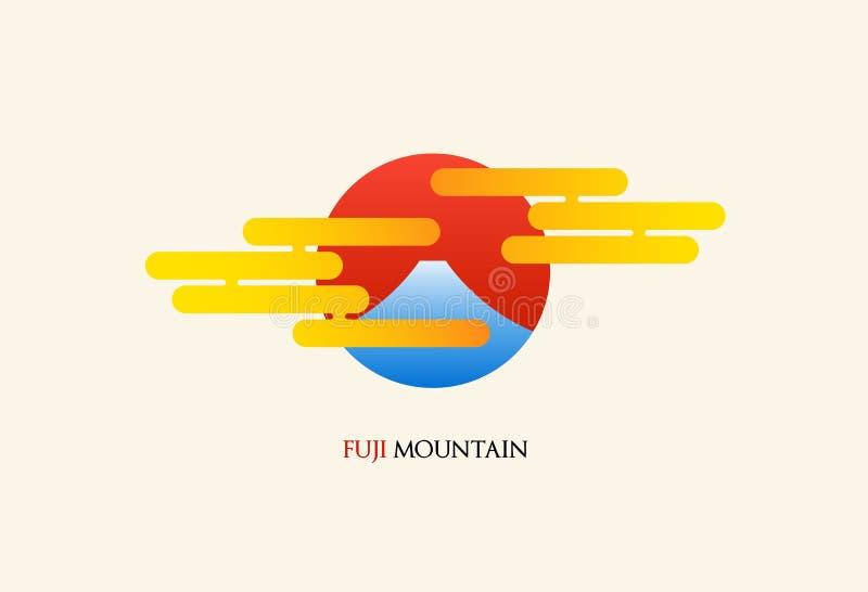 Illustrazione di vettore di logo dell'estratto della montagna del Giappone Fuji illustrazione vettoriale