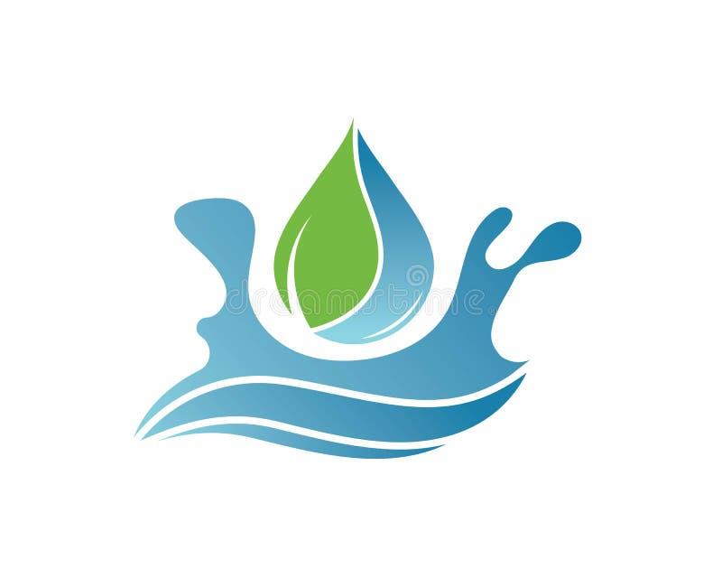 illustrazione di vettore di Logo Template della goccia di acqua royalty illustrazione gratis