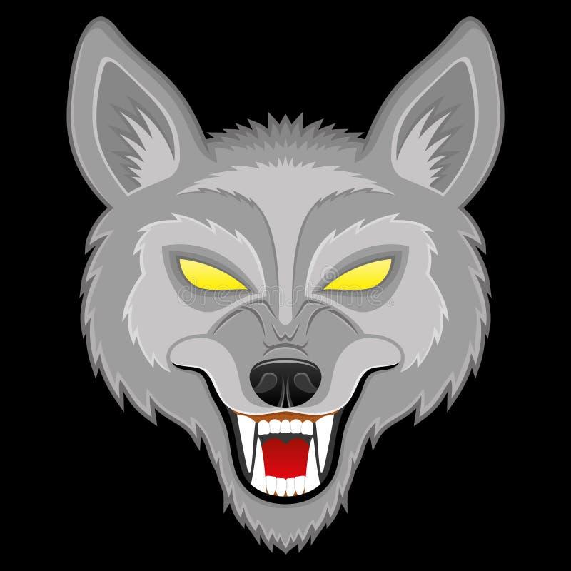 Illustrazione di vettore lupo illustrazione di stock