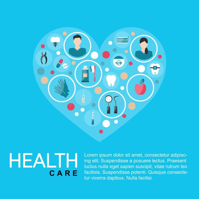 Illustrazione di vettore Manifesto di sanità del modello illustrazione vettoriale