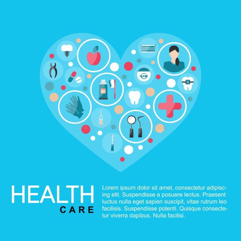 Illustrazione di vettore Manifesto di sanit? del modello sottragga la priorit? bassa illustrazione vettoriale