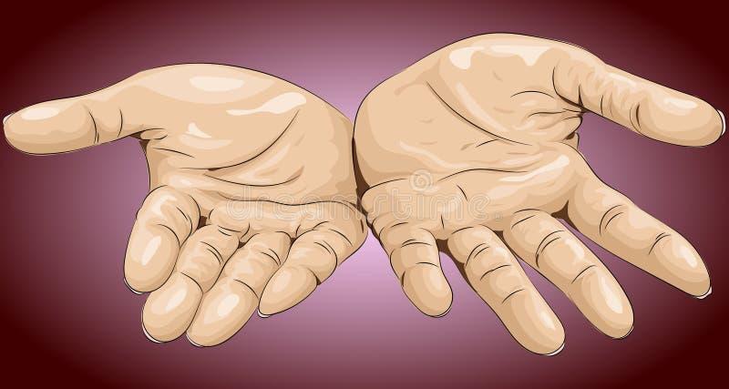 Illustrazione di vettore Palme delle mani su royalty illustrazione gratis
