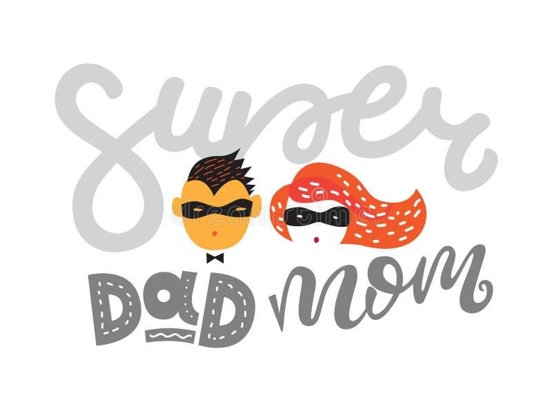 Illustrazione di vettore per il giorno di padri ed il giorno di madri illustrazione vettoriale
