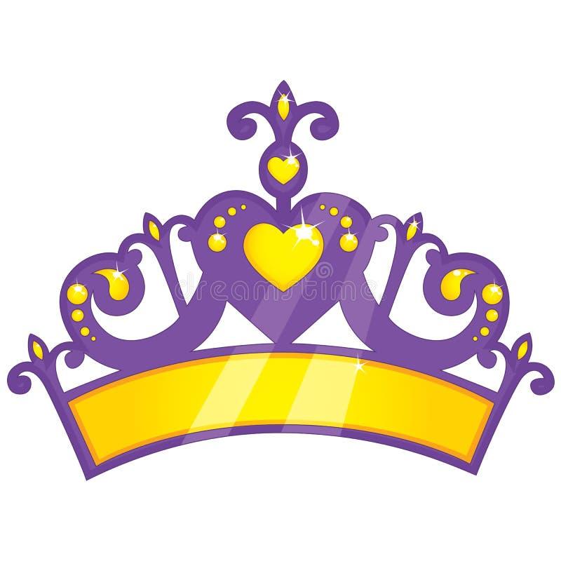Illustrazione di vettore di principessa porpora Crown illustrazione di stock