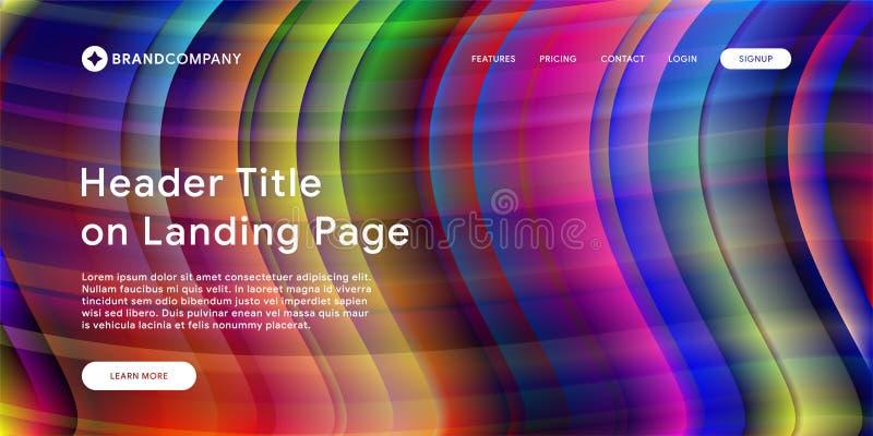 Illustrazione di vettore di progettazione creativa con le forme variopinte fluide Pendenze d'avanguardia di colore Progettazione  illustrazione di stock