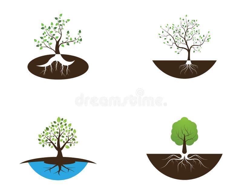 Illustrazione di vettore di progettazione di logo dell'icona dell'albero della natura illustrazione vettoriale