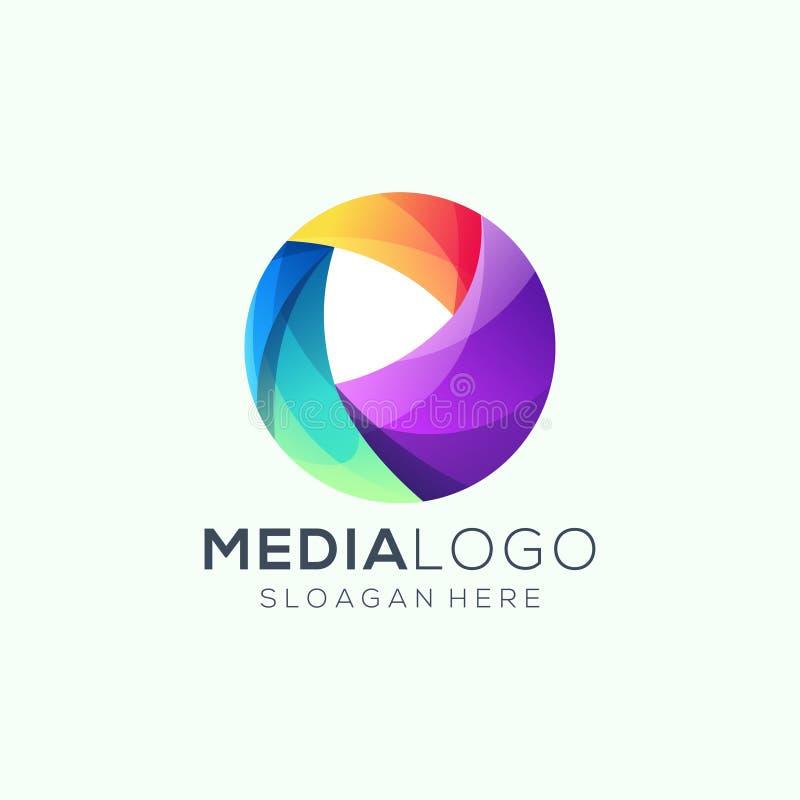 Illustrazione di vettore di progettazione di logo di media illustrazione vettoriale