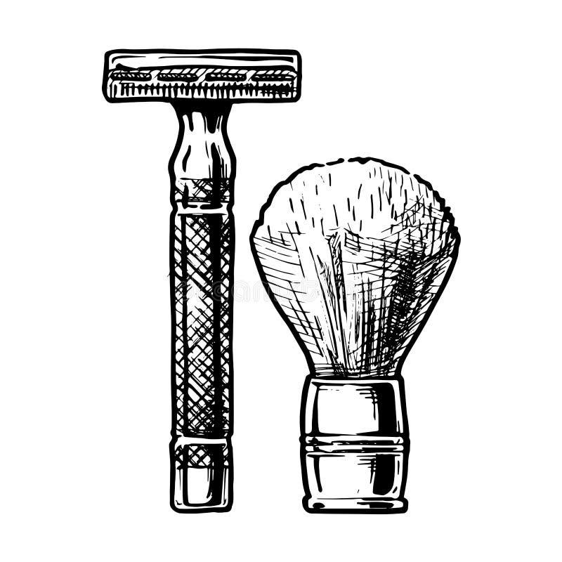 Illustrazione di vettore di rasatura degli accessori illustrazione di stock