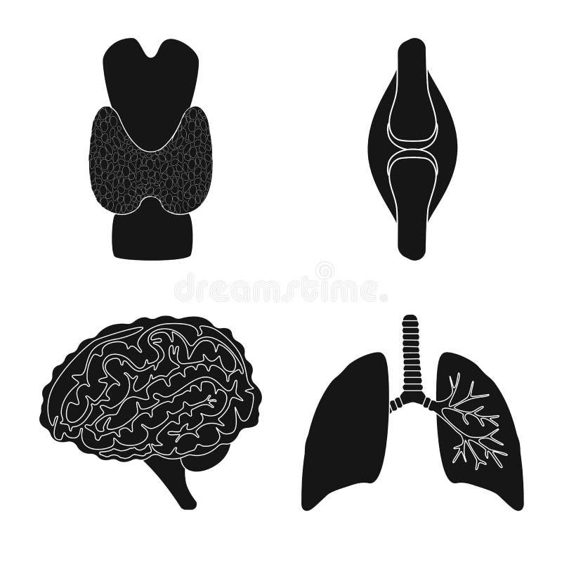 Illustrazione di vettore di ricerca e del segno del laboratorio Metta del simbolo di riserva dell'organo e della ricerca per il w illustrazione vettoriale