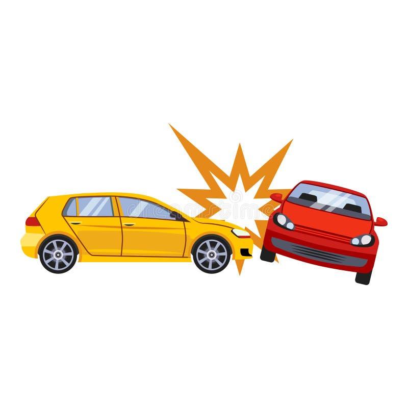 Illustrazione di vettore di rischio di incidente e dell'assicurazione auto illustrazione di stock