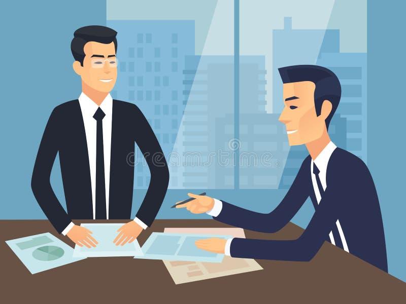 Illustrazione di vettore di riunione d'affari immagini stock
