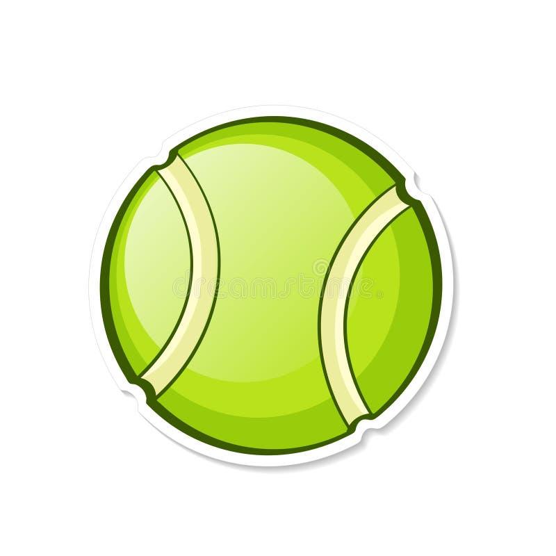 Illustrazione di vettore Sfera di tennis verde Strumentazione di sport Cartoo royalty illustrazione gratis