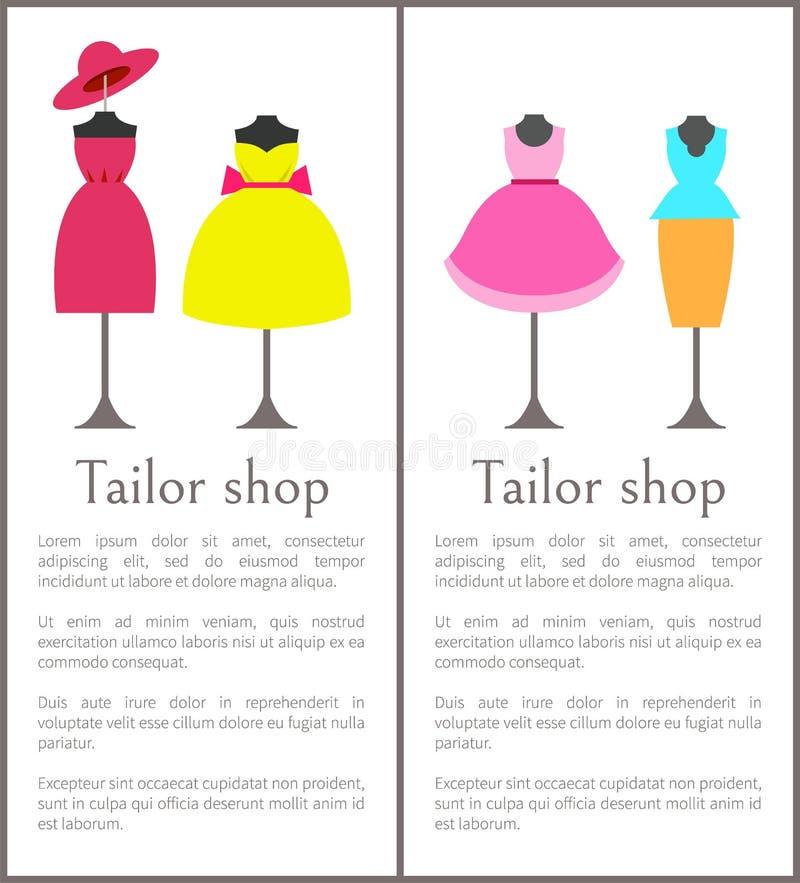 Illustrazione di vettore di Shop Pages Collection del sarto royalty illustrazione gratis
