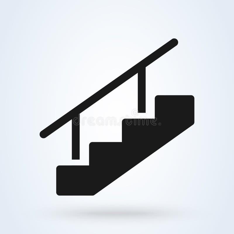 Illustrazione di vettore di simbolo delle scale Icona piana di web di vettore illustrazione vettoriale