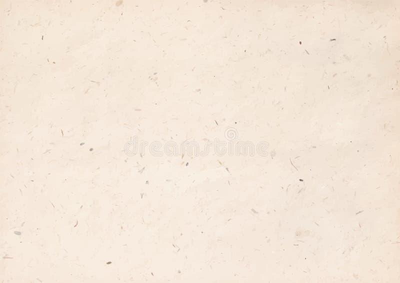 Illustrazione di vettore di struttura della carta kraft immagine stock libera da diritti