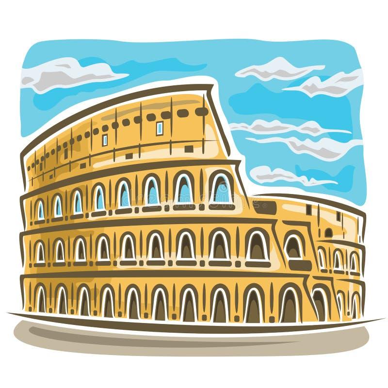 Illustrazione di vettore sul tema del Colosseo illustrazione vettoriale