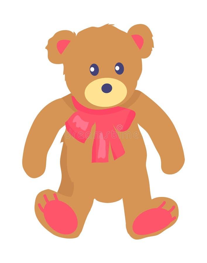 Illustrazione di vettore di Toy Teddy Bear con Baw illustrazione di stock