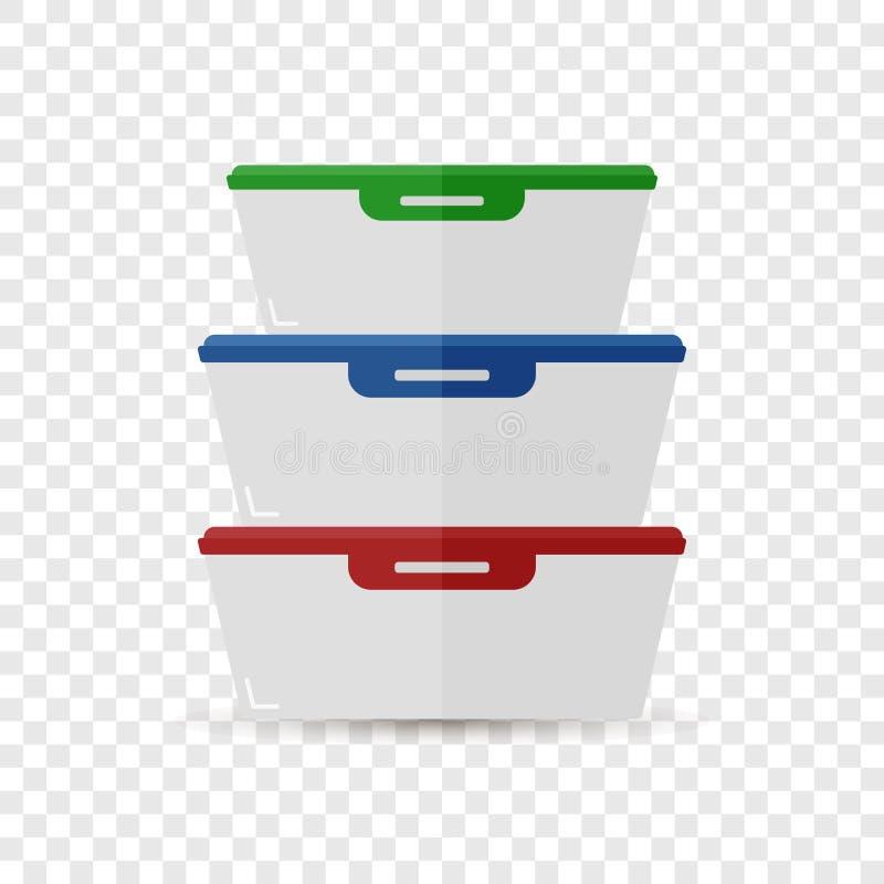 Illustrazione di vettore di un contenitore per i prodotti Un vassoio di plast royalty illustrazione gratis