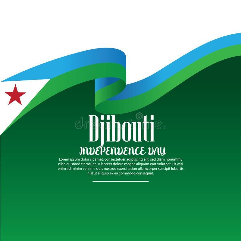 Illustrazione di vettore di un fondo per progettazione di festa dell'indipendenza di Gibuti - L'archivio di vettore illustrazione di stock